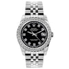 Rolex Datejust 26mm Stainless Steel Bracelet Black Star Dial w/ Diamond Bezel
