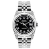 Rolex Datejust 26mm Stainless Steel Bracelet Black Star Dial w/ Diamond Lugs