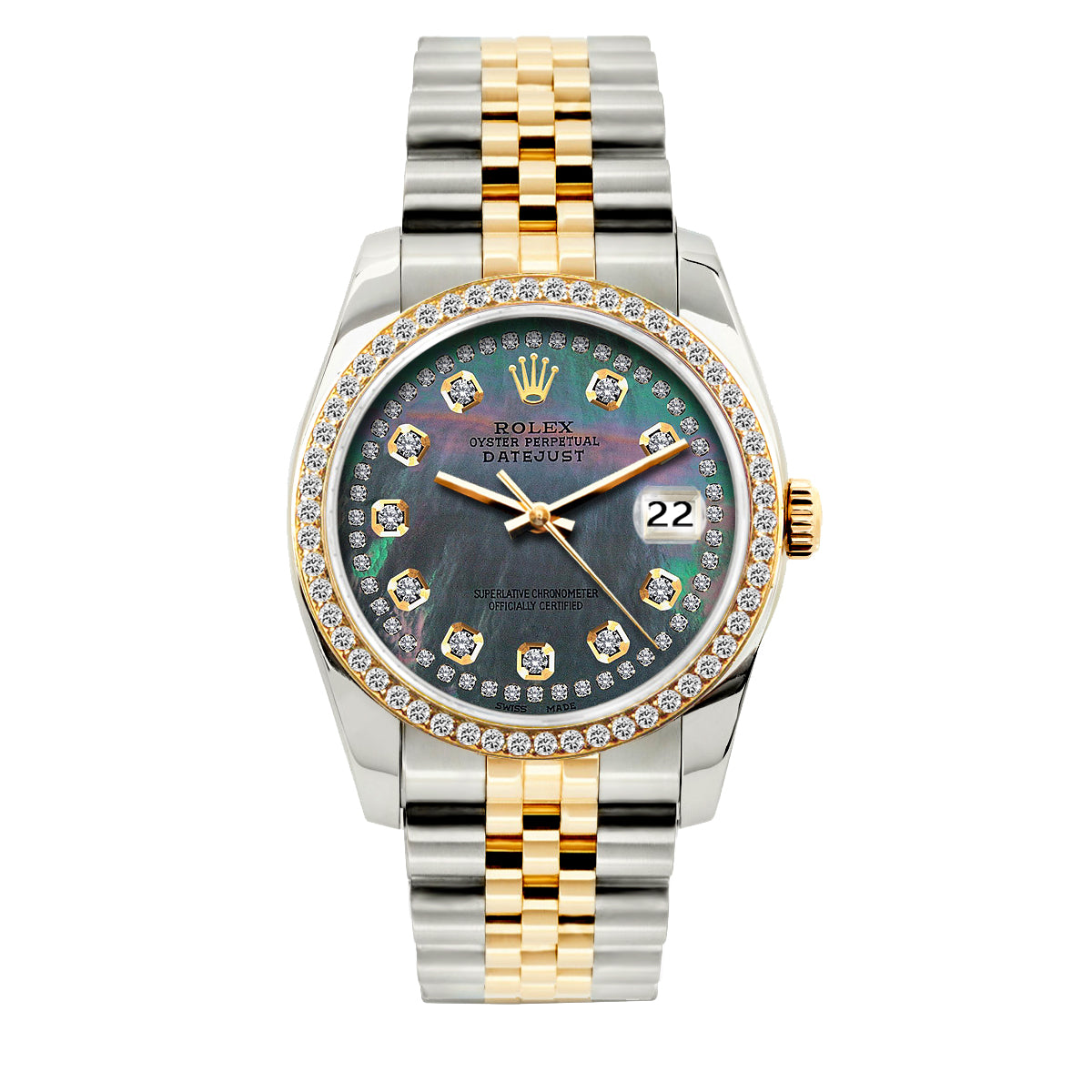 52756415b969e Rolex Datejust 36mm Yellow Gold and Stainless Steel Bracelet Mother of - OMI  Jewelry