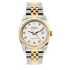 Rolex Datejust 36mm Yellow Gold and Stainless Steel Bracelet White Dial