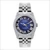 Rolex Datejust 36mm Stainless Steel Blue Dial w/ Diamond Bezel and Lugs