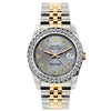 Rolex Datejust 26mm Yellow Gold and Stainless Steel Bracelet Aluminum Dial w/ Diamond Bezel