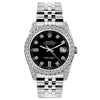Rolex Datejust 26mm Stainless Steel Bracelet Black Dial w/ Diamond Bezel and Lugs