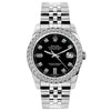 Rolex Datejust 26mm Stainless Steel Bracelet Black Dial w/ Diamond Bezel