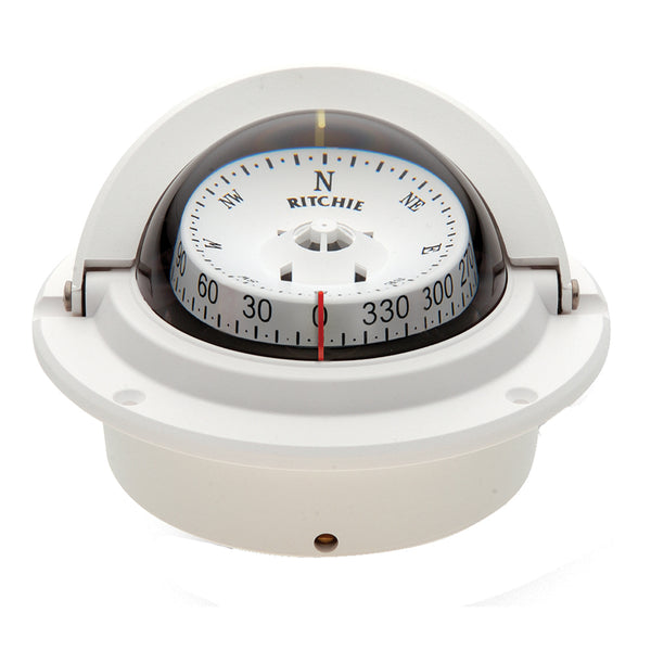 Ritchie F-83W Voyager Compass - Flush Mount - White