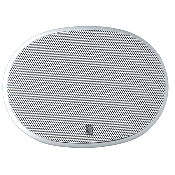 "Poly-Planar 6"" x 9"" 3-Way Platinum Oval Marine Speaker - (Pair) White [MA6900]"
