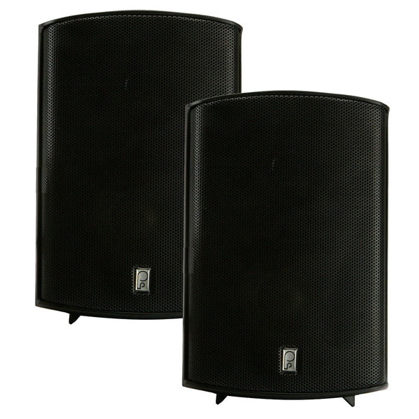 "Poly-Planar Compact Box Speaker - 7-11-16"" x 5-1-8"" x 4-11-16"" - (Pair) Black [MA7500B]"