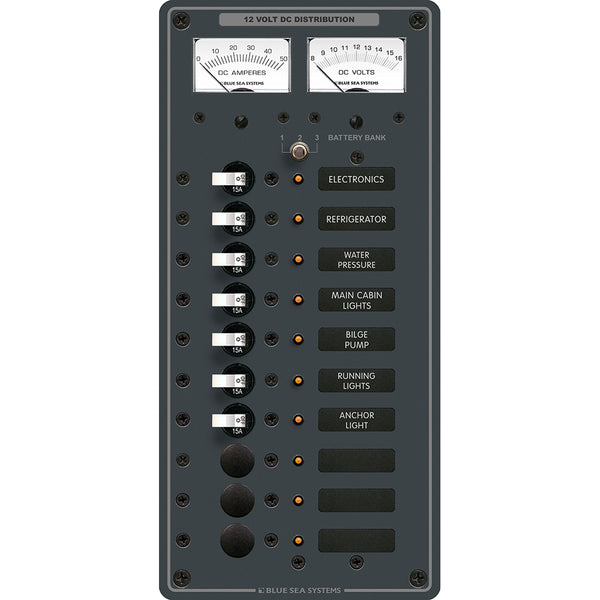 Blue Sea 8082 DC 10 Position Toggle Branch Circuit Breaker Panel [8082]