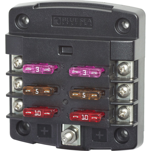 Blue Sea 5033 ST Blade Fuse Block w-out Cover - 6 Circuit w-out Negative Bus [5033]