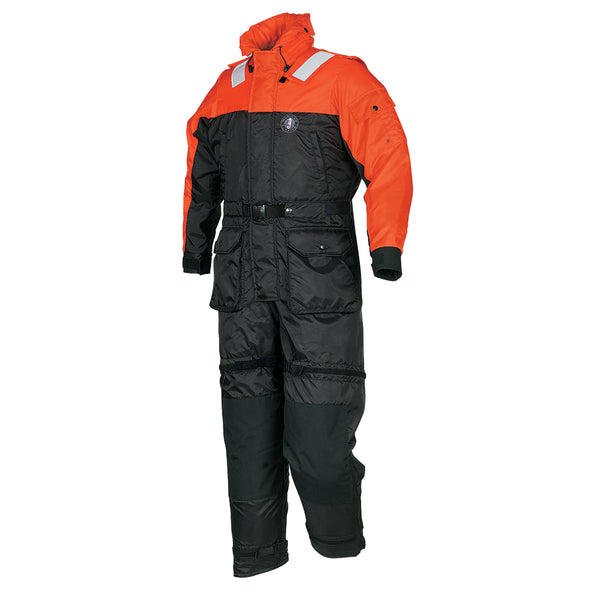 Mustang Deluxe Anti-Exposure Coverall & Worksuit - MED - Orange-Black [MS2175-M-OR-BK]