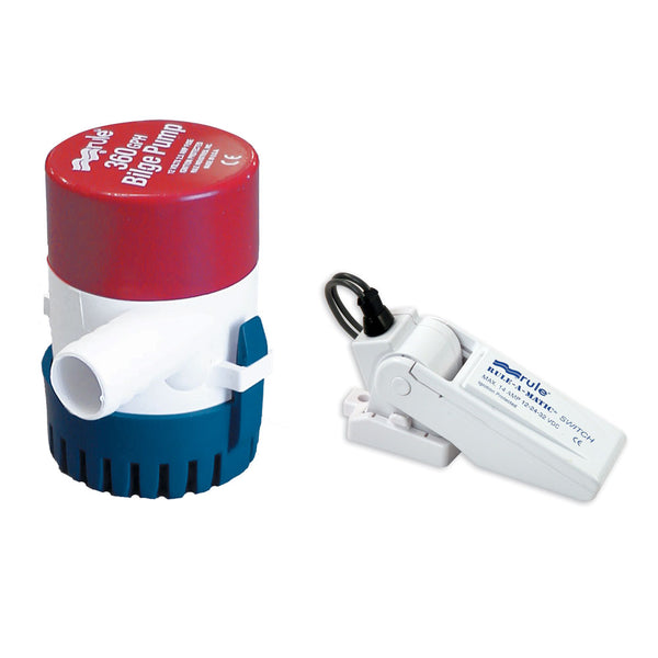 Rule 360 G.P.H. Bilge Pump w-Rule-A-Matic Float Switch [24-35A]