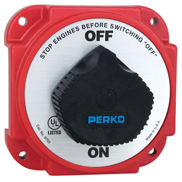 Perko 9703DP Heavy Duty Battery Disconnect Switch w- Alternator Field Disconnect [9703DP]
