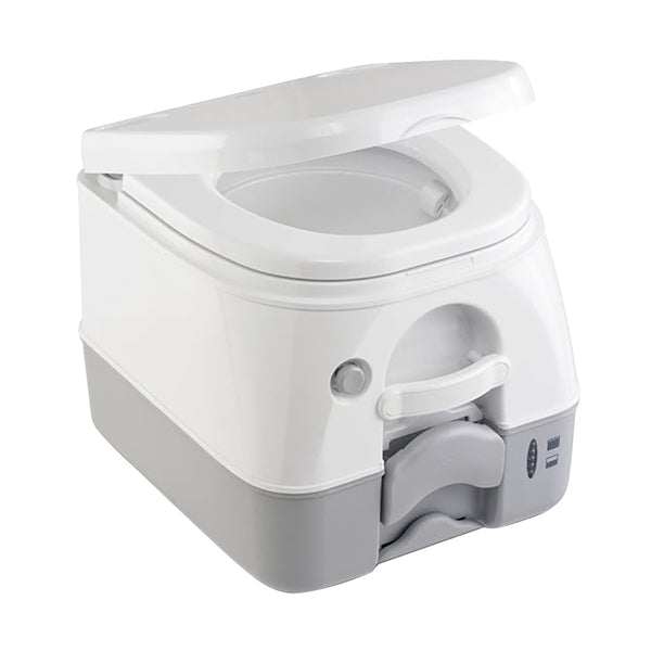 Dometic - SeaLand 974MSD Portable Toilet 2.6 Gallon - Grey w-Brackets [301197406]