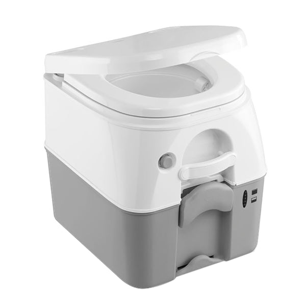 Dometic - SeaLand 975 Portable Toilet 5.0 Gallon - Grey w-Brackets [301097506]