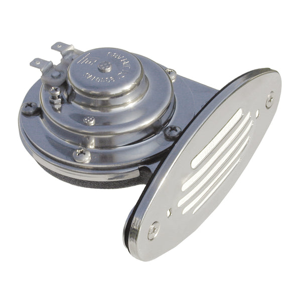 Ongaro Mini Single Drop-In Horn w-SS Grill - 12V Low Pitch [10050]