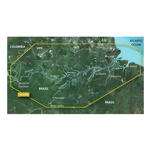 Garmin BlueChart g2 HD - HXSA009R - Amazon River - microSD-SD [010-C1066-20]