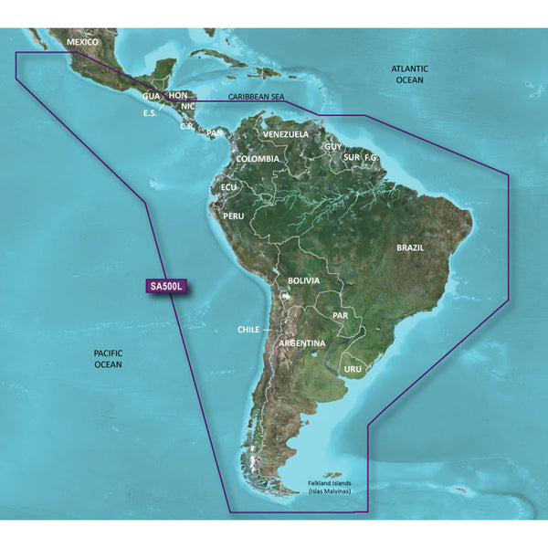 Garmin BlueChart g2 HD - HXSA600X - South America - microSD-SD [010-C1067-20]