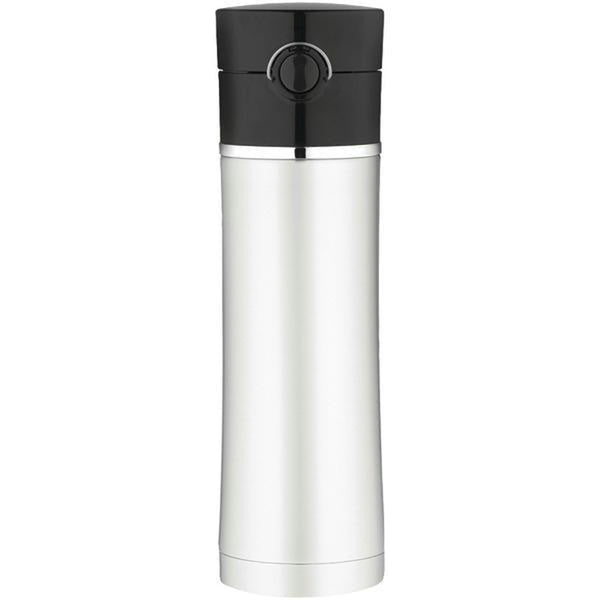 Thermos Sipp Vacuum Insulated Drink Bottle - 16 oz. - Stainless Steel-Black [NS402BK4]