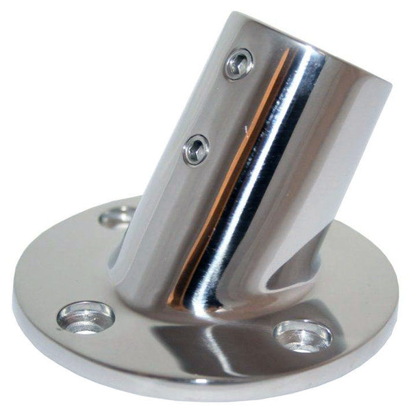 "Whitecap 1"" O.D. 60 Degree Round Base SS Rail Fitting [6140C]"