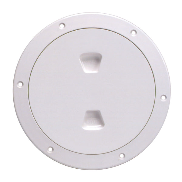 "Beckson 6"" Smooth Center Screw-Out Deck Plate - White [DP60-W]"