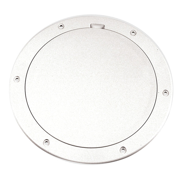 "Beckson 6"" Smooth Center Pry-Out Deck Plate - White [DP61-W]"