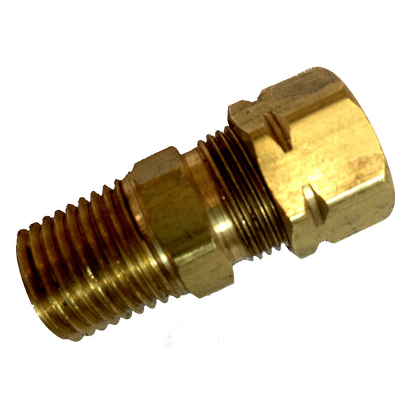 "Uflex Straight Helm Fitting 1-4 NPT to 3-8"" COMP [SF38-39471L]"