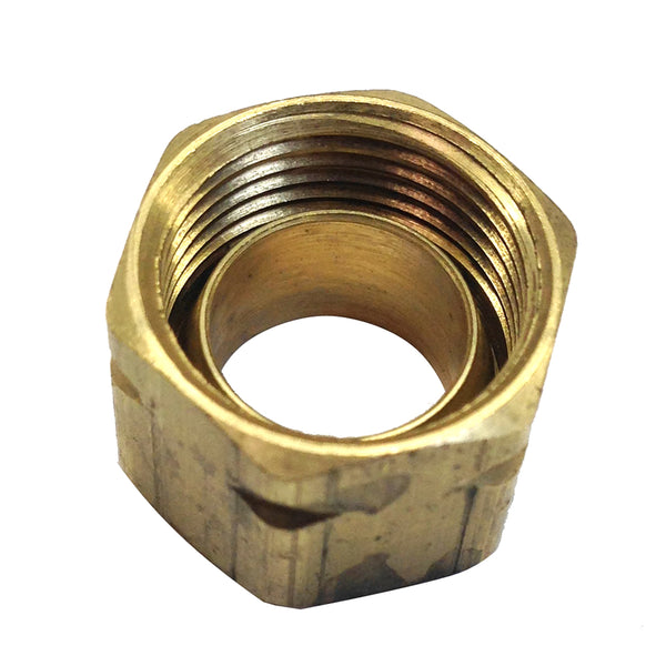 Uflex Brass Compression Nut w-Sleeve #61CA-6 [71004K]