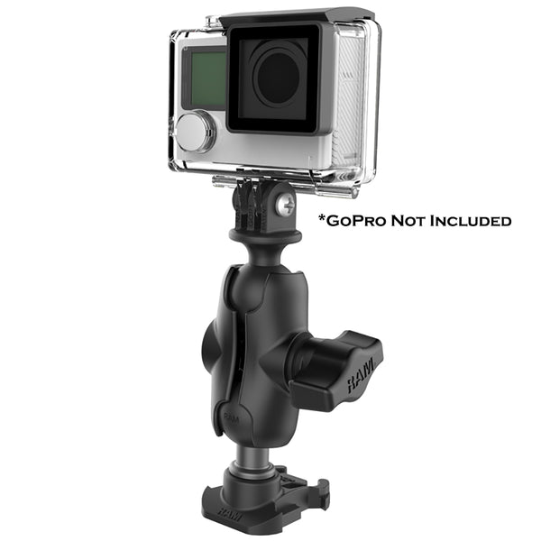 "RAM Mount RAM 1"" Ball Adapter for GoPro Bases with Short Arm and Action Camera Adapter [RAP-B-GOP2-A-GOP1U]"