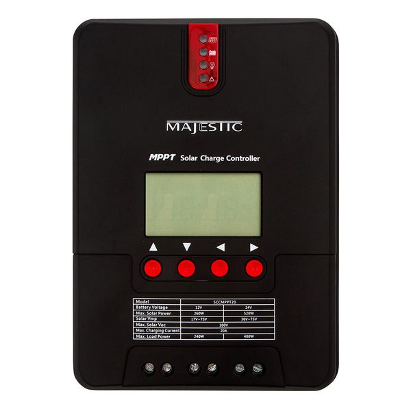 Majestic MPPT Solar Charge Controller - 20 Amp [SCCMPPT20]