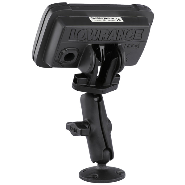 "RAM Mount B Size 1"" Composite Fishfinder Mount for the Lowrance Hook2 Series [RAP-B-101-LO12]"