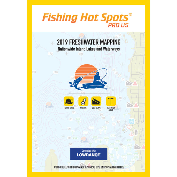 Fishing Hot Spots PRO USA 2019 Freshwater Mapping Nationwide Inland Lakes  Waterways f-Lowrance  Simrad Units [E119]