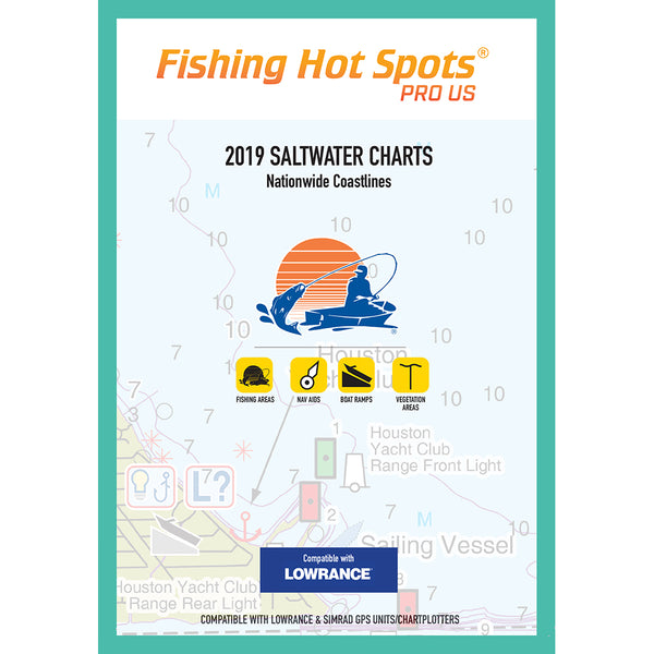 Fishing Hot Spots Pro SW 2019 Saltwater Charts Nationwide Coastlines f-Lowrance  Simrad Units [E189]