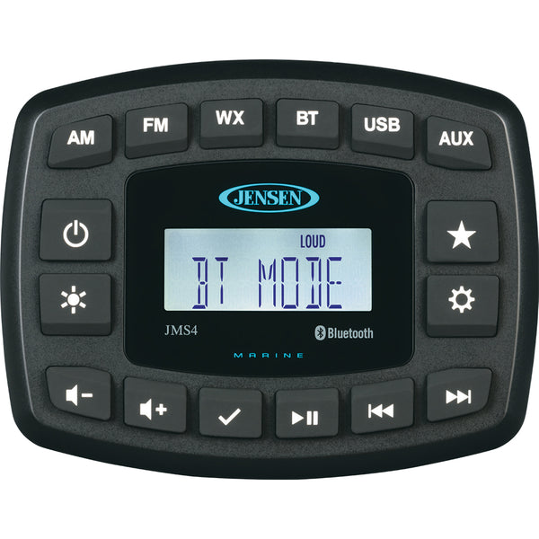 "JENSEN 4"" JMS4RTL Waterproof Bluetooth AM-FM-WB-USB Stereo - Black [JMS4RTL]"