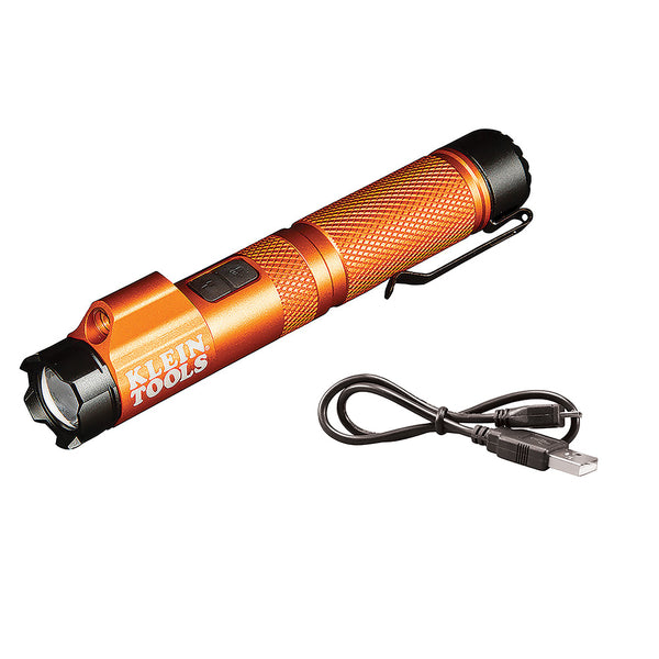 Klein Tools Rechargeable Focus Flashlight w-Laser - 350 Lumens [56040]