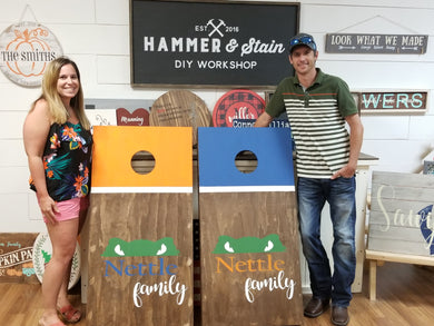 06/14/2019 (6:30pm) Couples Corn Hole Board Workshop (Crystal River)
