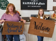 8/22/2018 (6:30pm) Rustic Bench & Door Mat Workshop