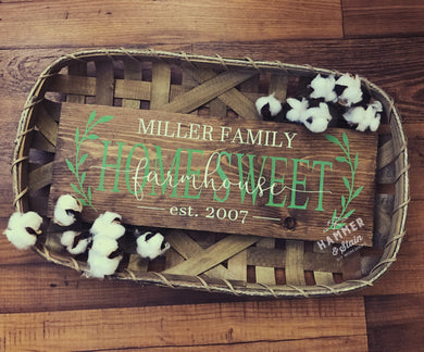 10/15/2018 (6:30pm) Tobacco Basket Farmhouse Sign
