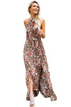 Chiffon Floral Print Maxi Dress - 2 colors