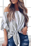 The Camille Bold Off Shoulder Top
