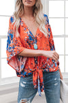 Drool Worthy Kimono Sleeve Top - Blue
