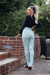 Mint High Waisted Side Split Trousers