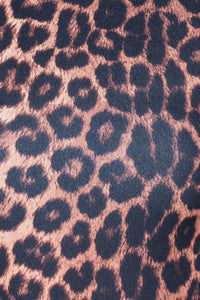 Leopard Print Long Sleeve High Neck Bodysuit