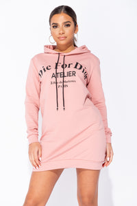 Rose Die For Dior Hooded Jumper Dress