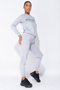 Grey Ye Saint West Jumper & Jogger Loungewear Set