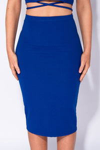 Dark Blue Midi Skirt