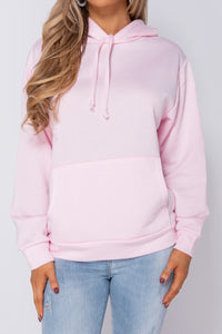 Pink Oversize Long Hooded Top