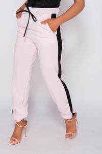 Pink Side Stripe Detail Joggers