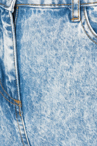 Blue Acid Wash Distressed Sequin Jean