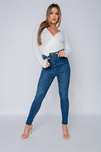 Indigo High Waisted Skinny Jeans