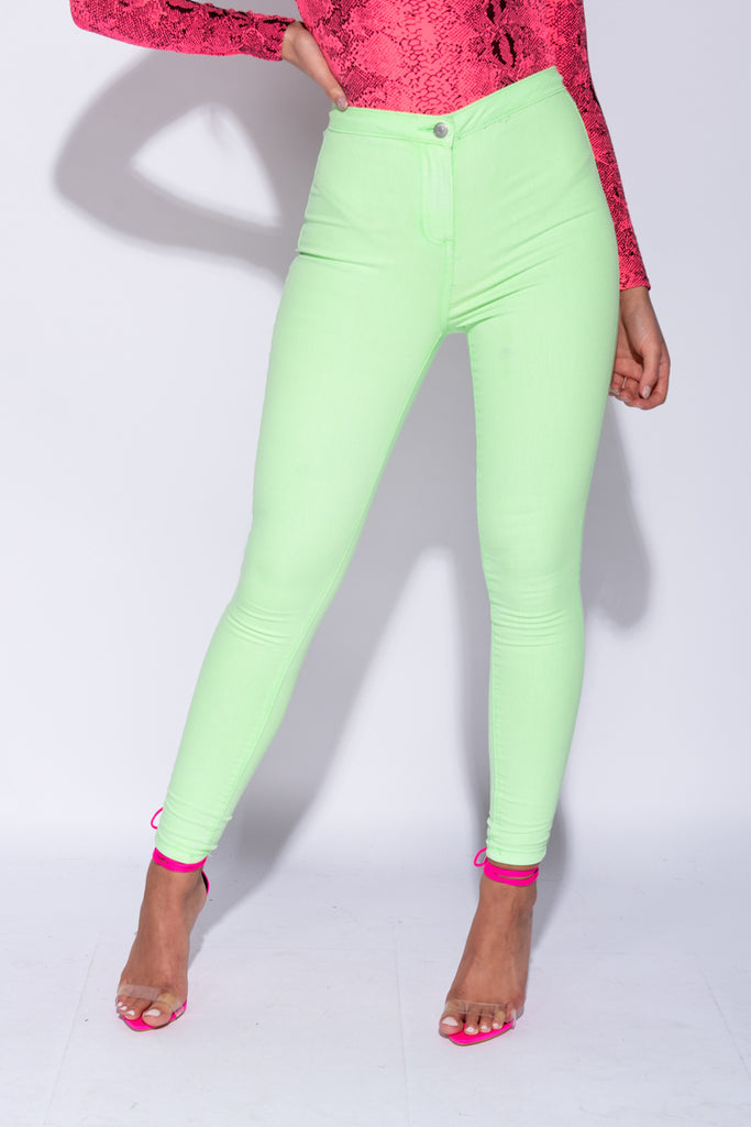 Image: Neon Green High Waisted Jeggings